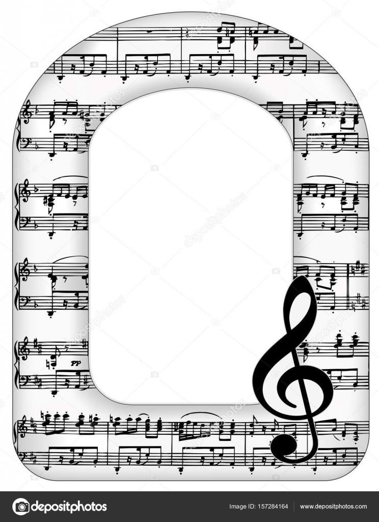 Musik Noten Bilderrahmen, Violinschlüssel — Stockvektor © casejustin ...