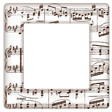 Music Notes Picture Frame, Treble Clef