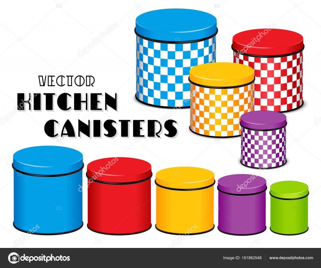 Küche Lebensmittel Lagerung Kanister Set, Schachbrettmuster, Multi ...