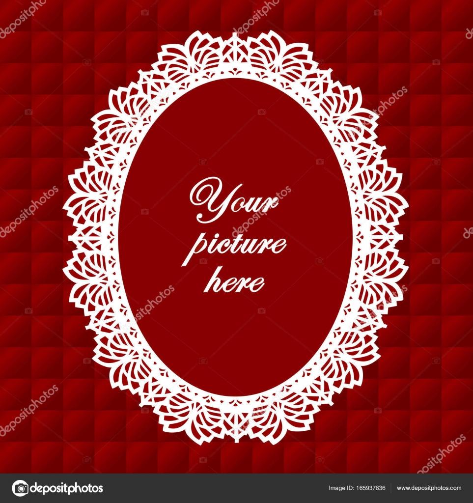 Cordón del tapetito: Vintage marco sobre fondo rojo rubí acolchado ...
