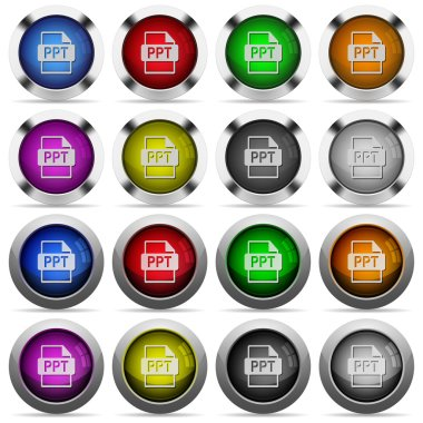 PPT file format glossy button set
