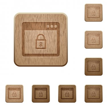Lock application wooden buttons