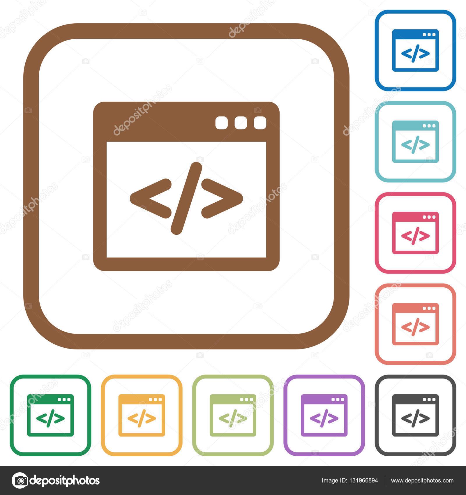 Programmierung Code einfache Symbole — Stockvektor © renegadehomie ...