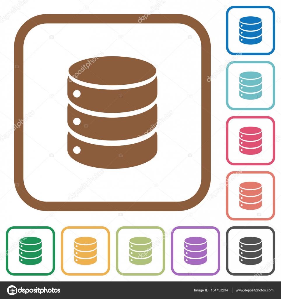 Einfache Symbole Datenbank — Stockvektor © renegadehomie #134753234