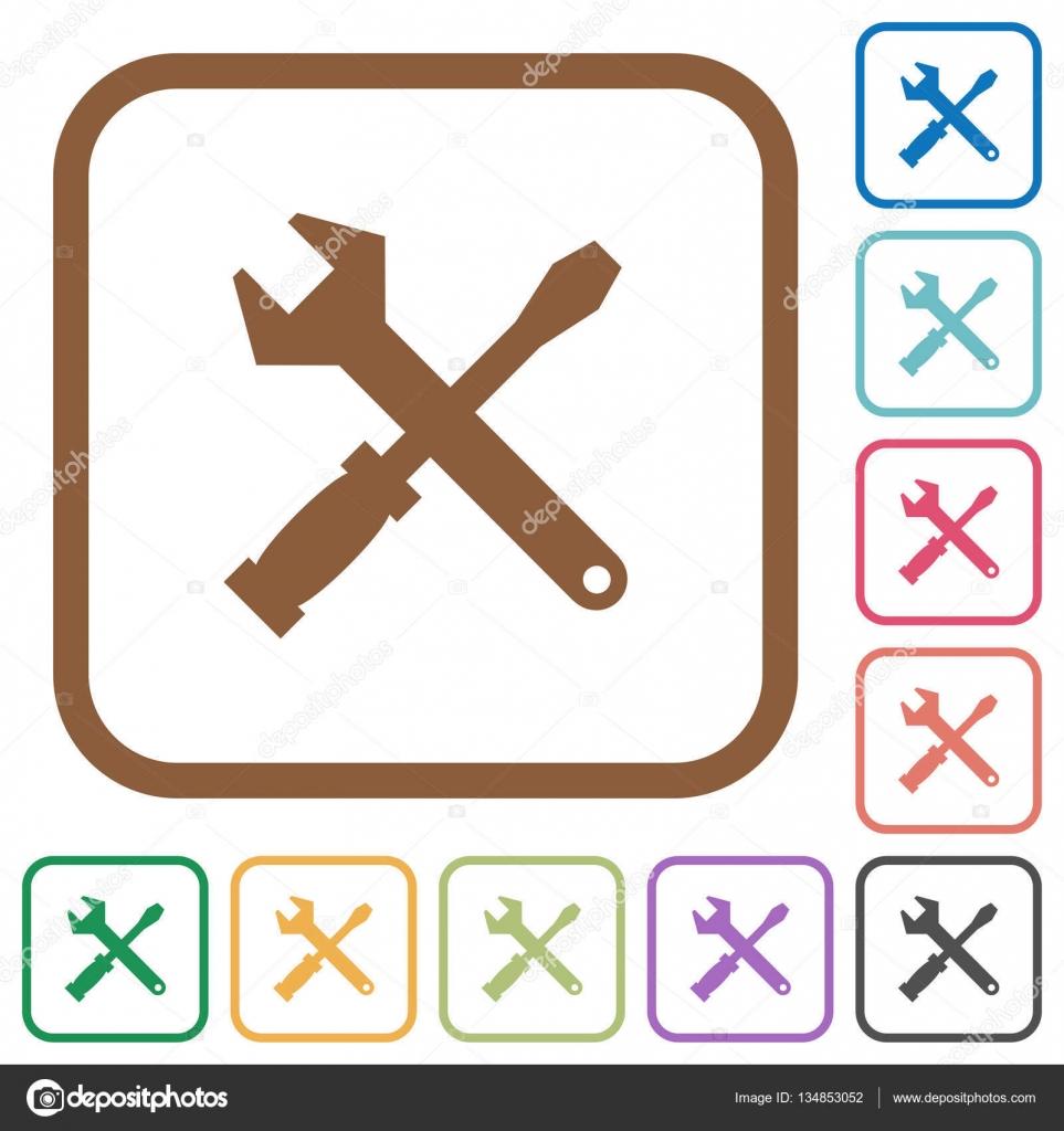 Einfache Symbole Werkzeuge — Stockvektor © renegadehomie #134853052