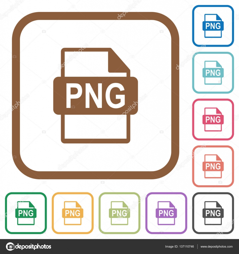 Iconos simple del formato de archivo PNG — Vector de stock ...