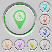 Fotografie Disability accessibility GPS map location push buttons