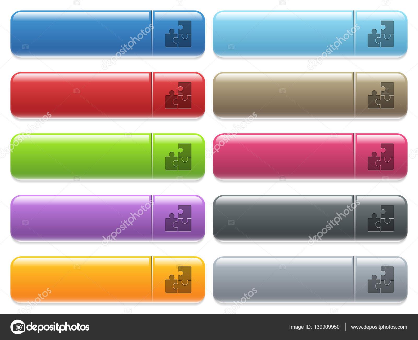 Puzzles & Geduldspiele Reihe von glänzenden Schaltfläche Symbole für Ihr  Puzzle