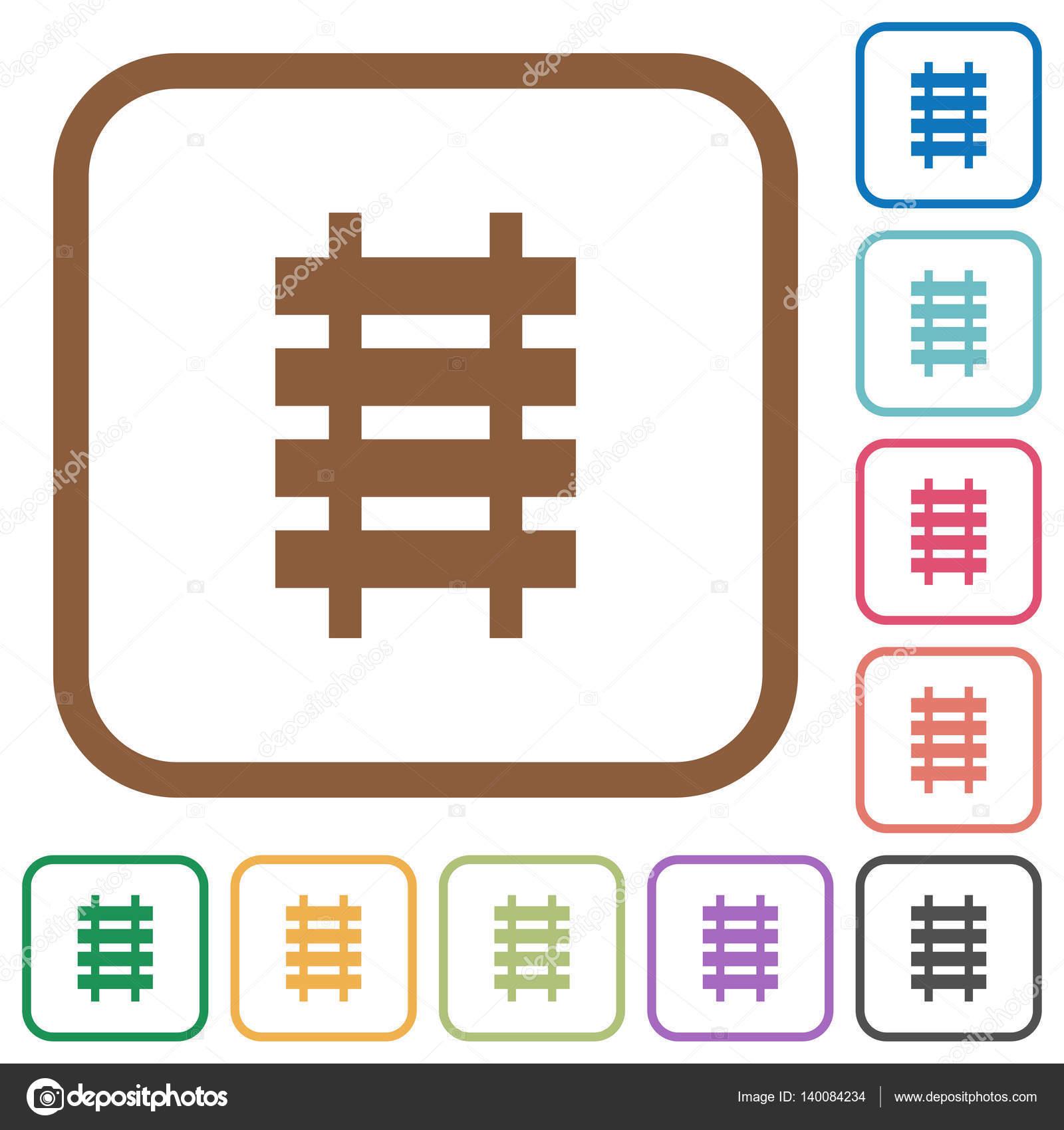 Einfache Symbole Eisenbahn — Stockvektor © renegadehomie #140084234