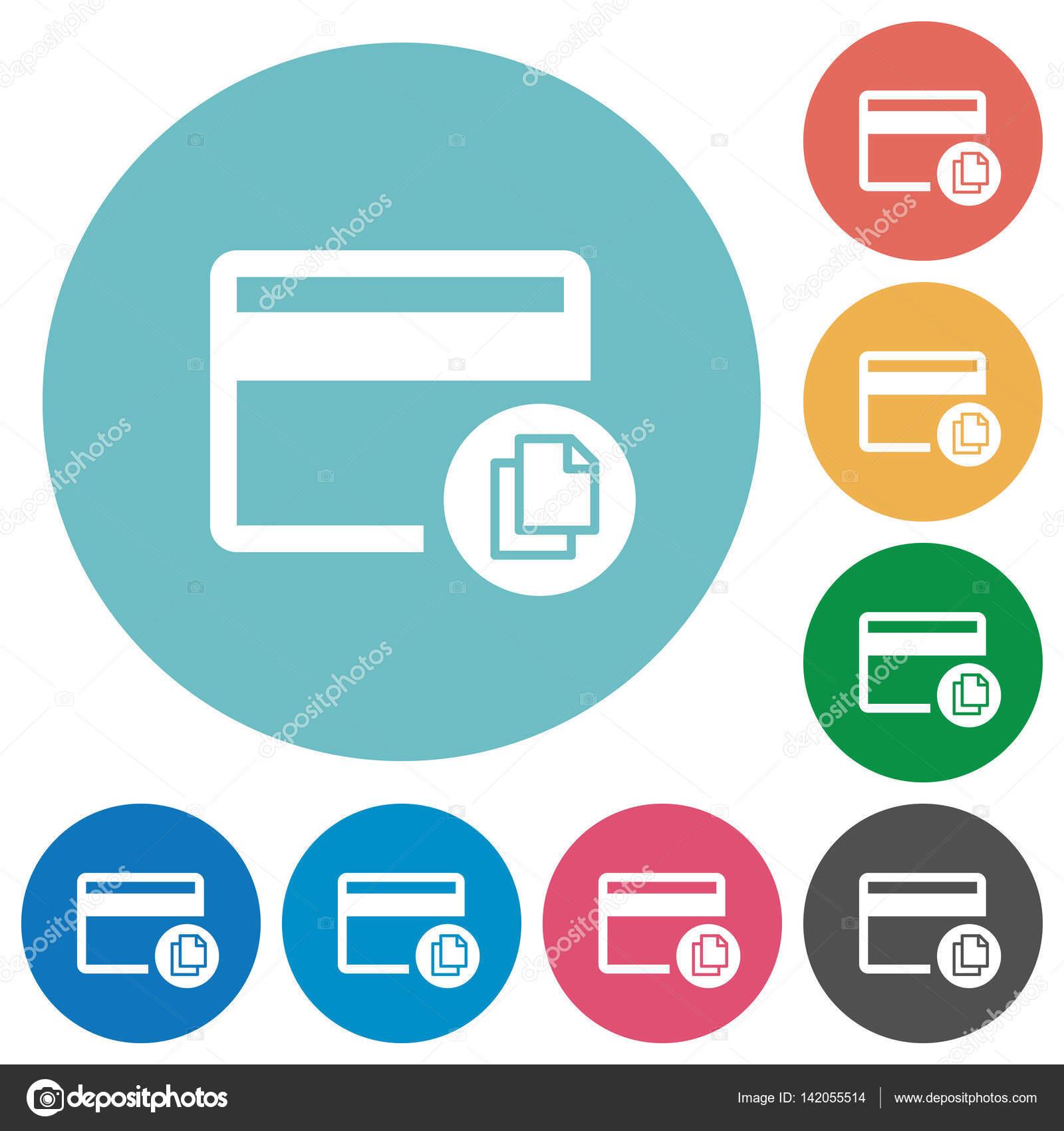 Plantillas de tarjeta de crédito transacciones planas alrededor de ...