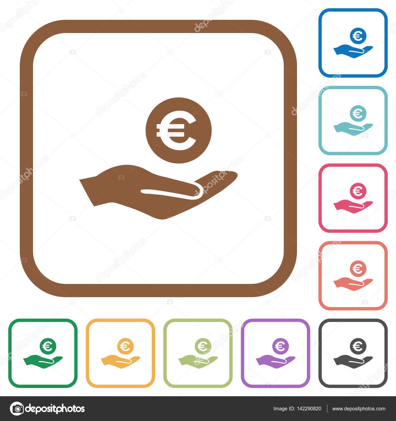 Euro Gewinn einfache Symbole — Stockvektor © renegadehomie #142290820