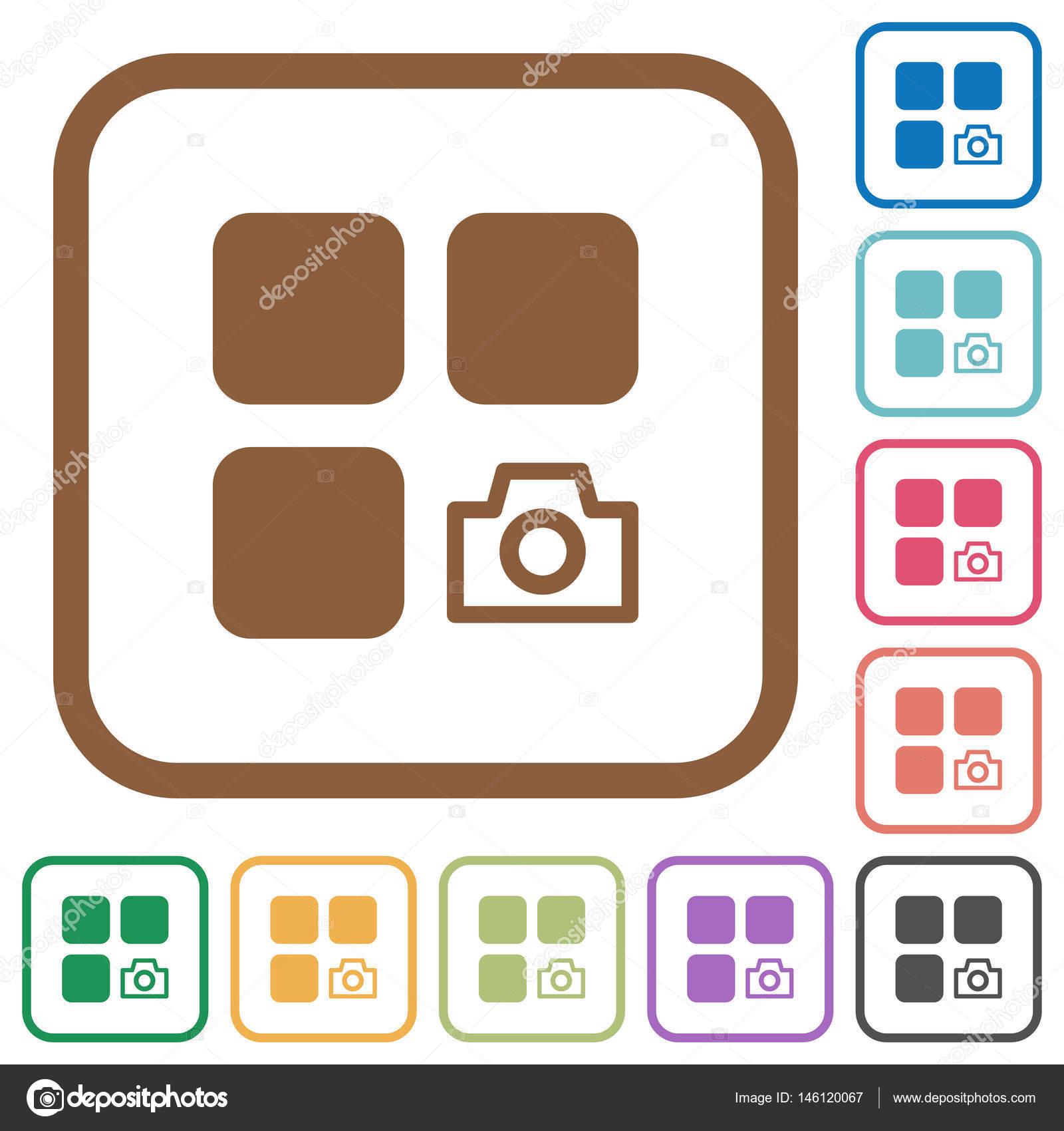 Komponente Snapshot einfache Symbole — Stockvektor © renegadehomie ...