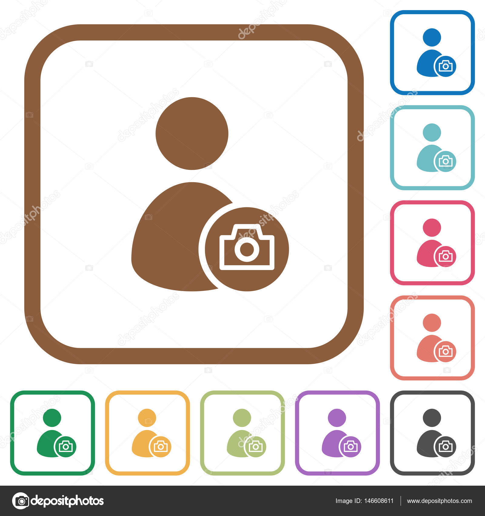 Einfache Symbole Profilfoto zu berücksichtigen — Stockvektor ...