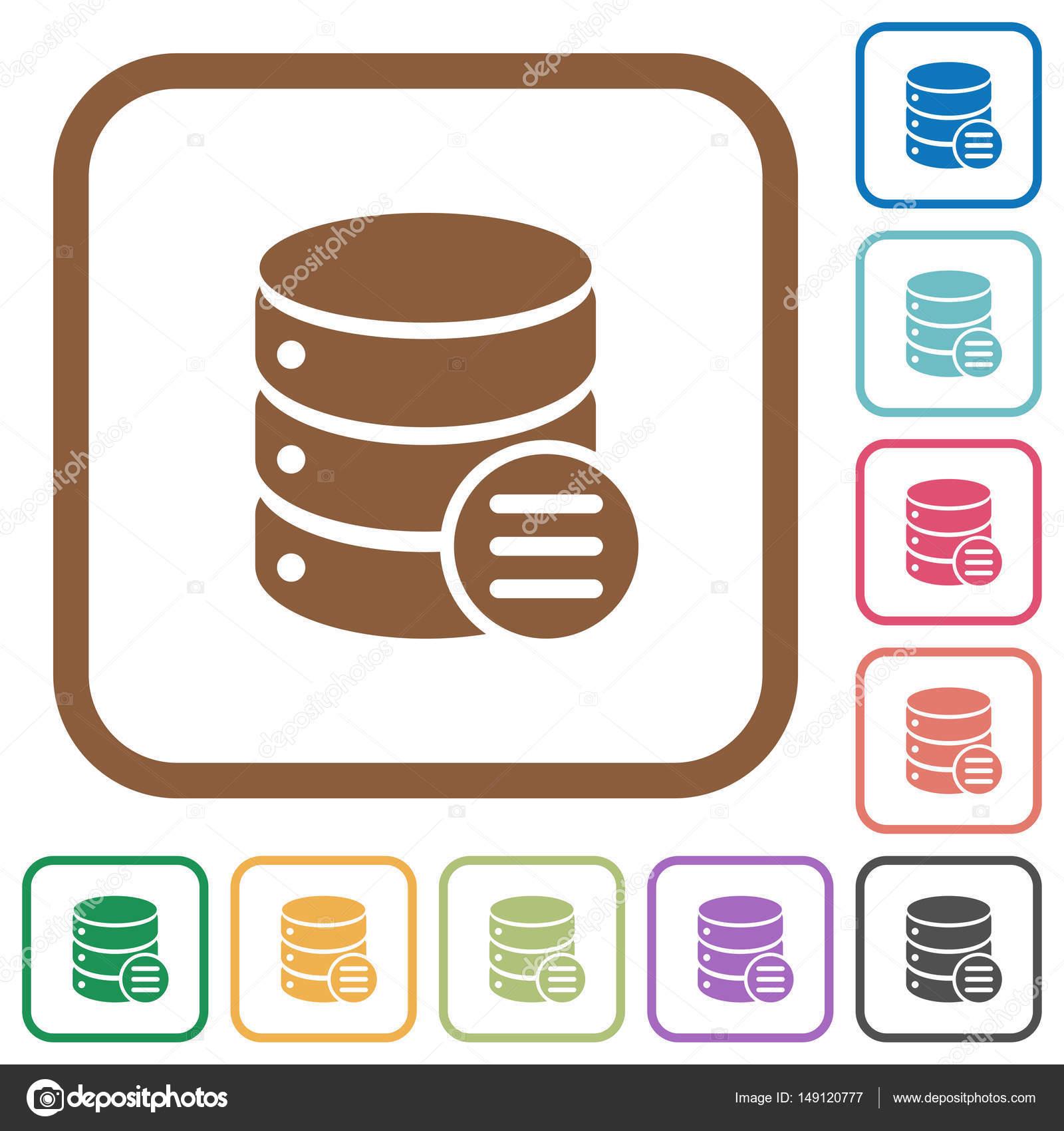 Datenbank-Optionen einfache Symbole — Stockvektor © renegadehomie ...