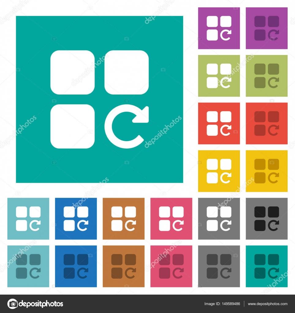 Wiederholen Sie Komponente Vorgang Quadrat flach Multi farbige ...