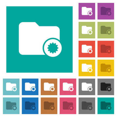 Certified directory square flat multi colored icons