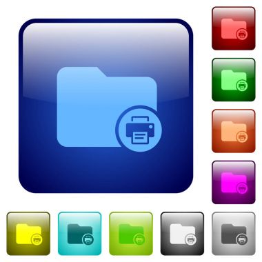 Print directory information color square buttons