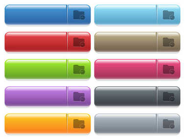 Directory processing icons on color glossy, rectangular menu button