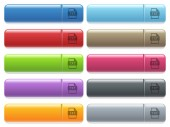 Fotografie TXT file format icons on color glossy, rectangular menu button