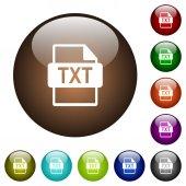 Fotografie TXT file format color glass buttons