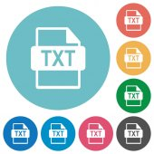 Fotografie TXT file format flat round icons