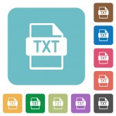 Fotografie TXT file format rounded square flat icons