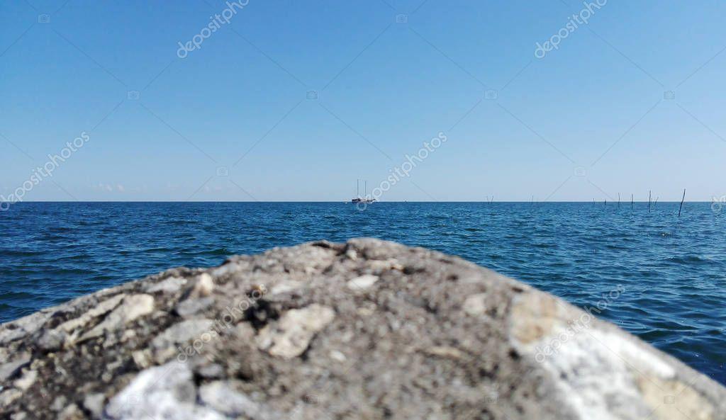 Landscape of grey stone