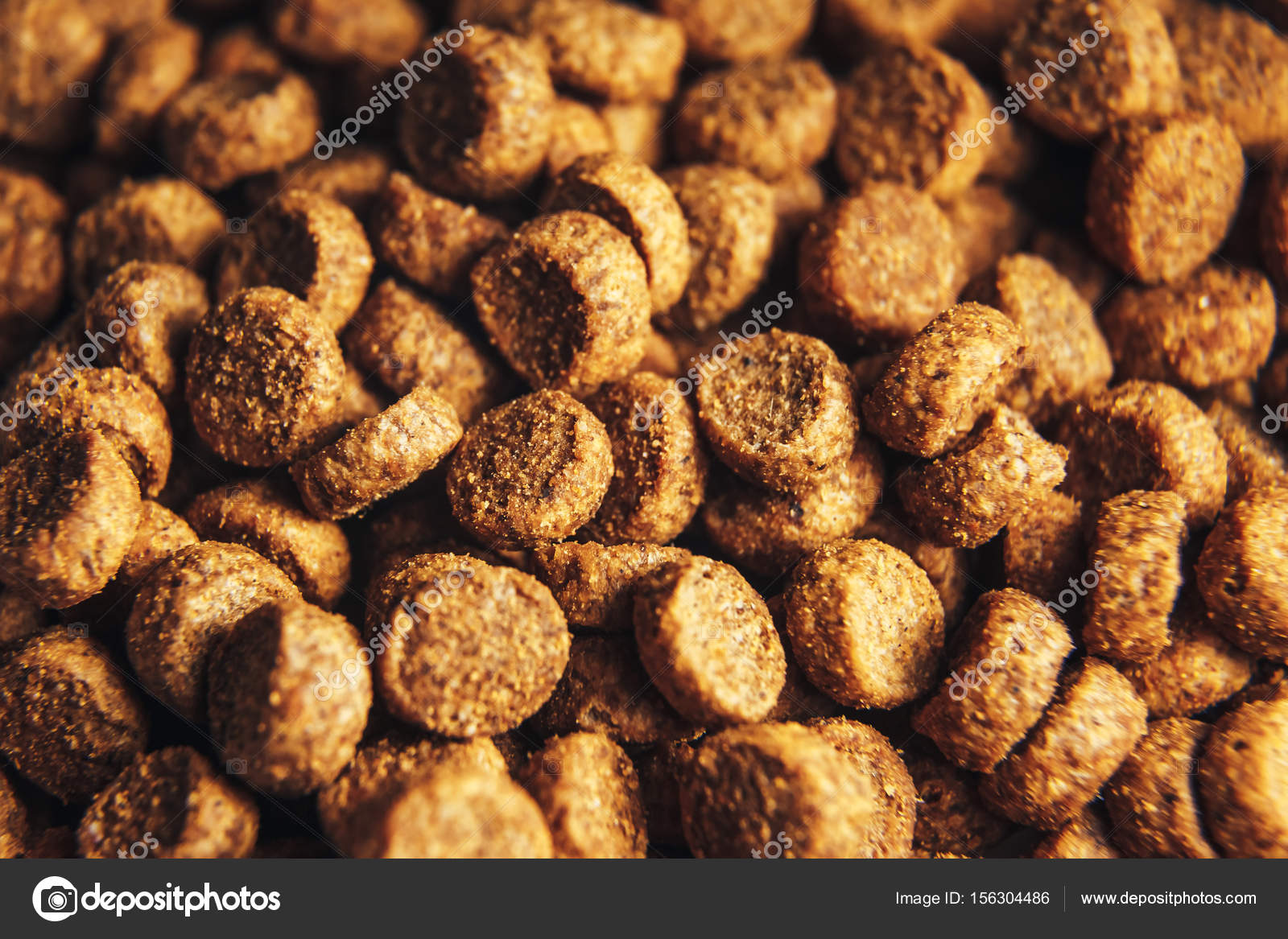 Getrocknete Hunde Und Katzenfutter Essen Hintergrund Makro Katze