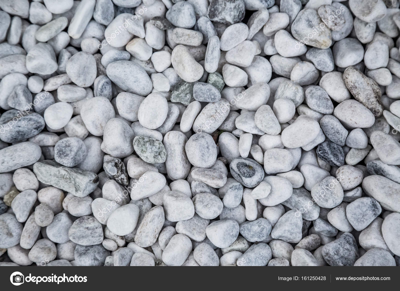 White Pebbles Wallpaper Stock Photo