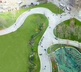 Grüne Park in der Stadt