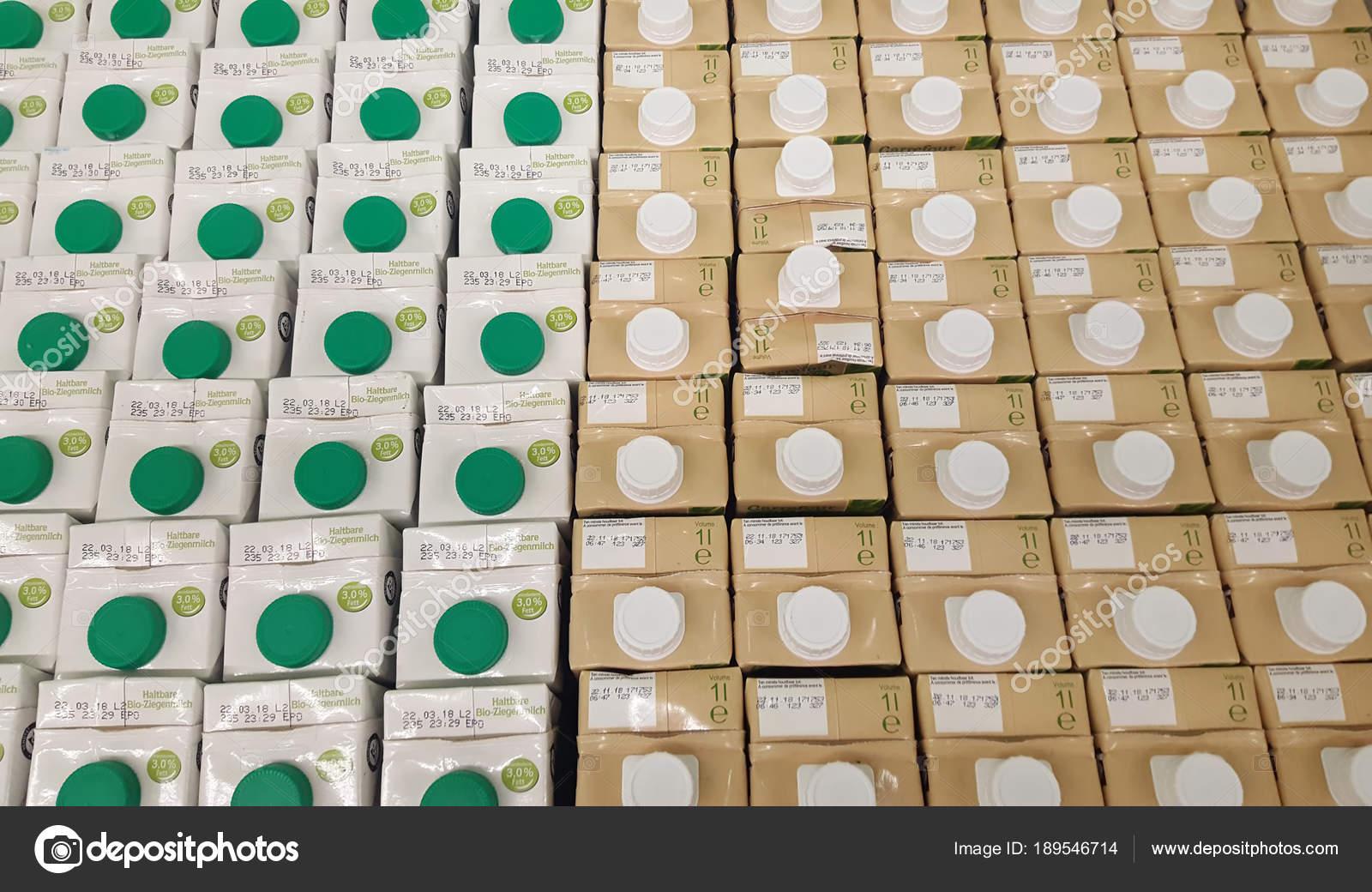 Iasi Romania January 2018 Milk Product Sale Carrefour Supermarket