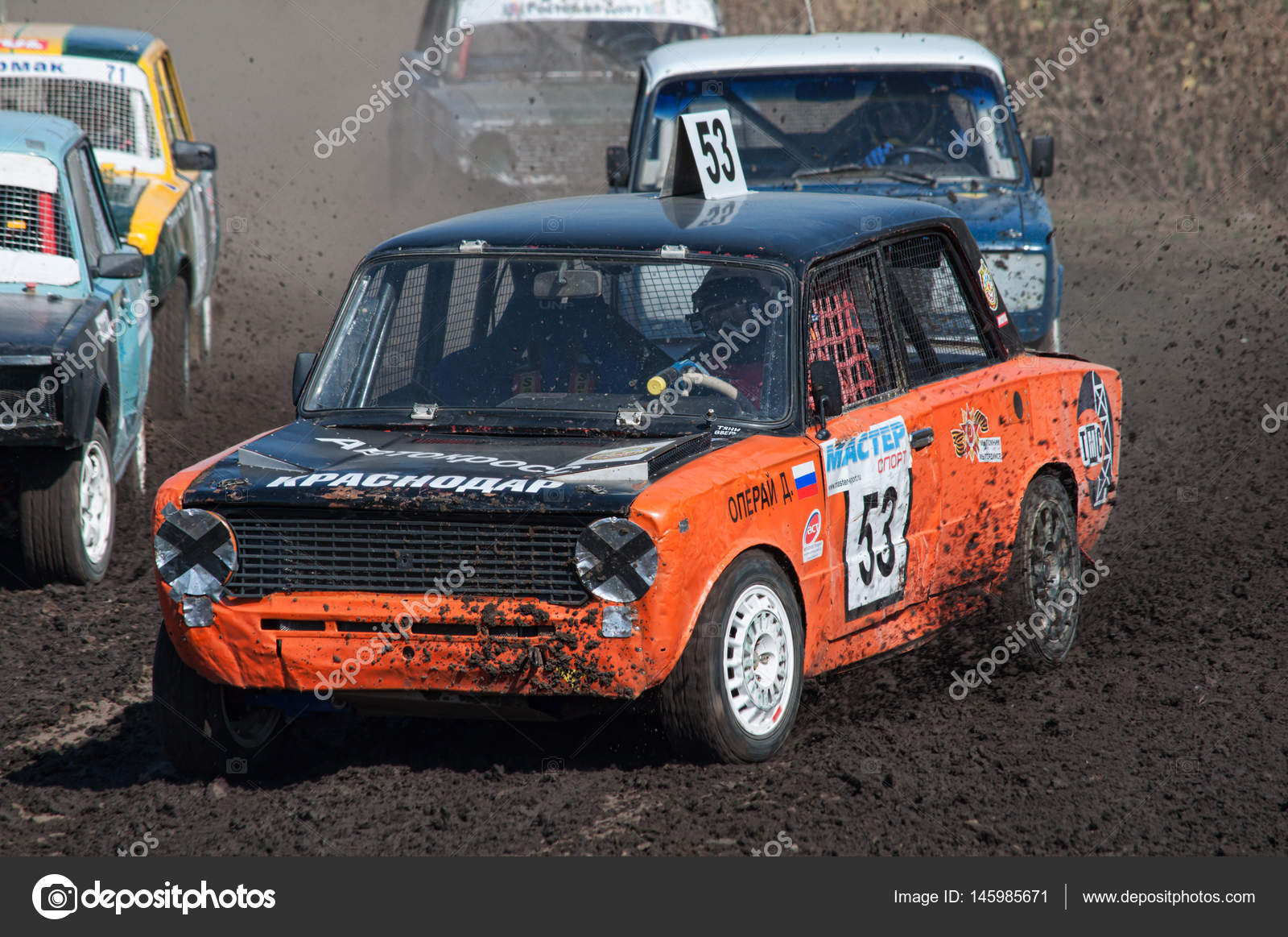 Race for survival on old cars – Stock Editorial Photo © iva-savickii ...