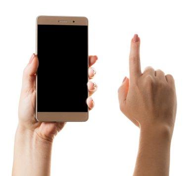 smartphone in a female hand