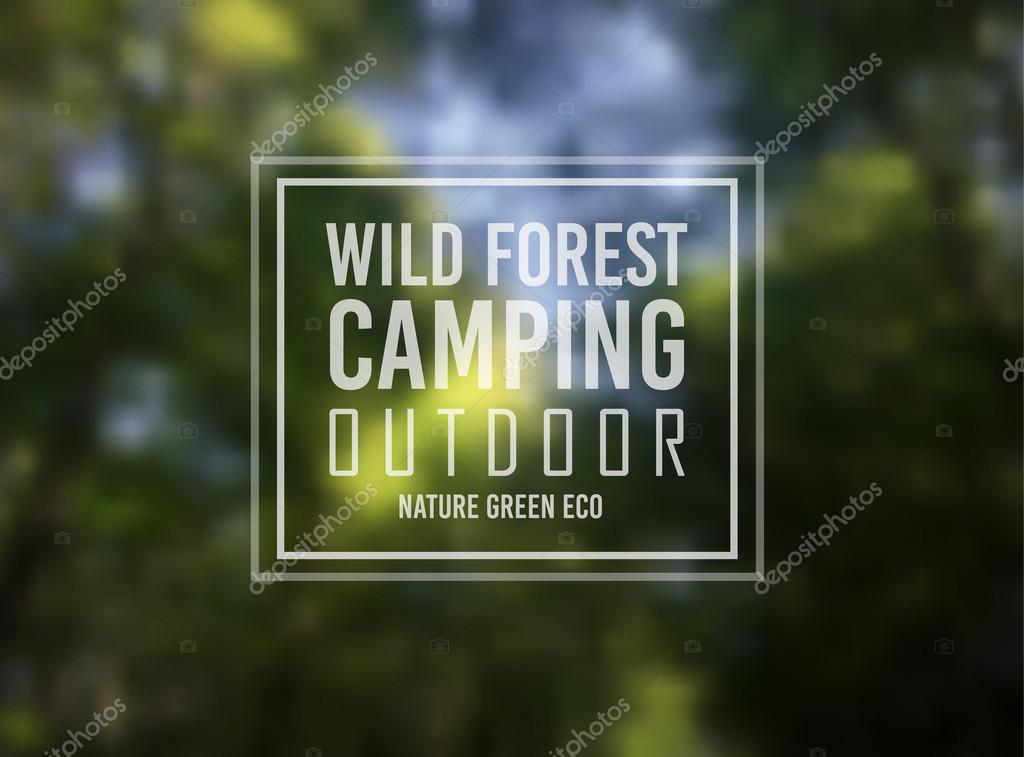 Wild Forest text over