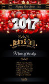 Fotografie New Year Restaurant Menu Template