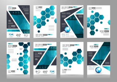 Brochure template, Flyer Design or Depliant Cover