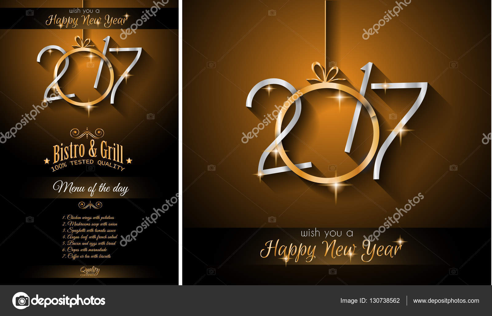 2017 new year background for your seasonal flyer and greeting card or christmas themed invitation menu vector by davidarts