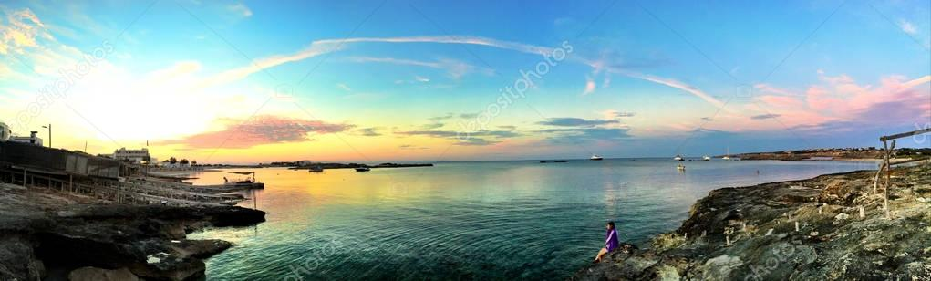 Beatiful sunset  in Formentera