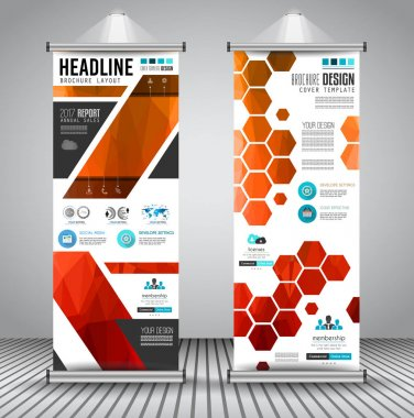 Advertisement roll up business flyers