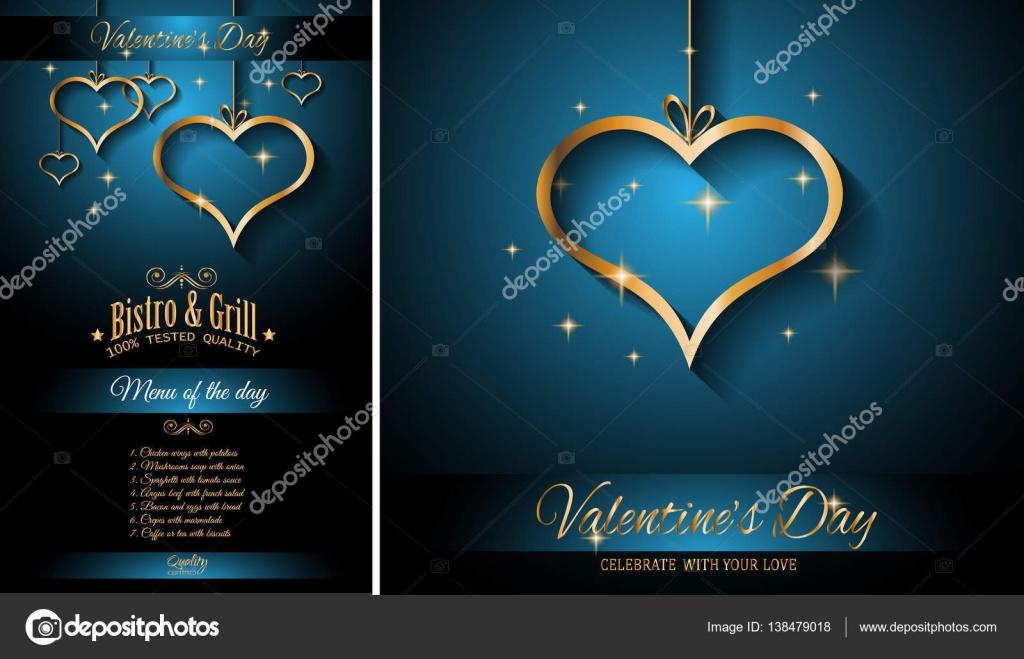 Valentinstag Restaurant Menüvorlage — Stockvektor © DavidArts #138479018