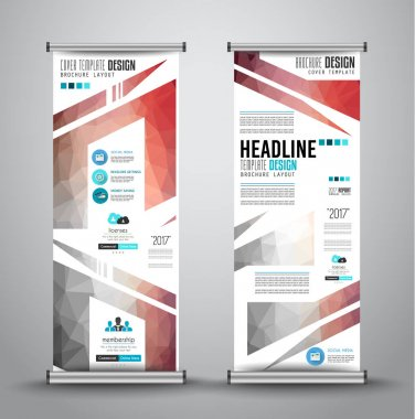 Advertisement roll up business banners