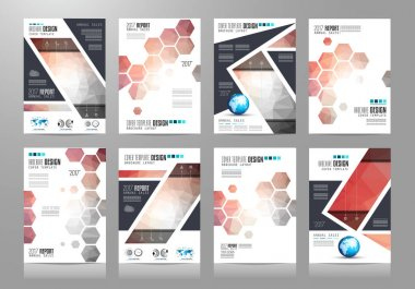 Set of Brochure templates