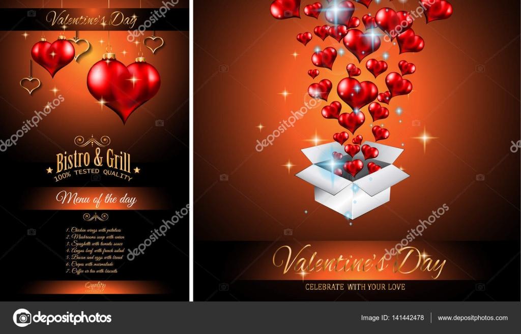 Plantillas Menu San Valentin Plantilla De Menú De