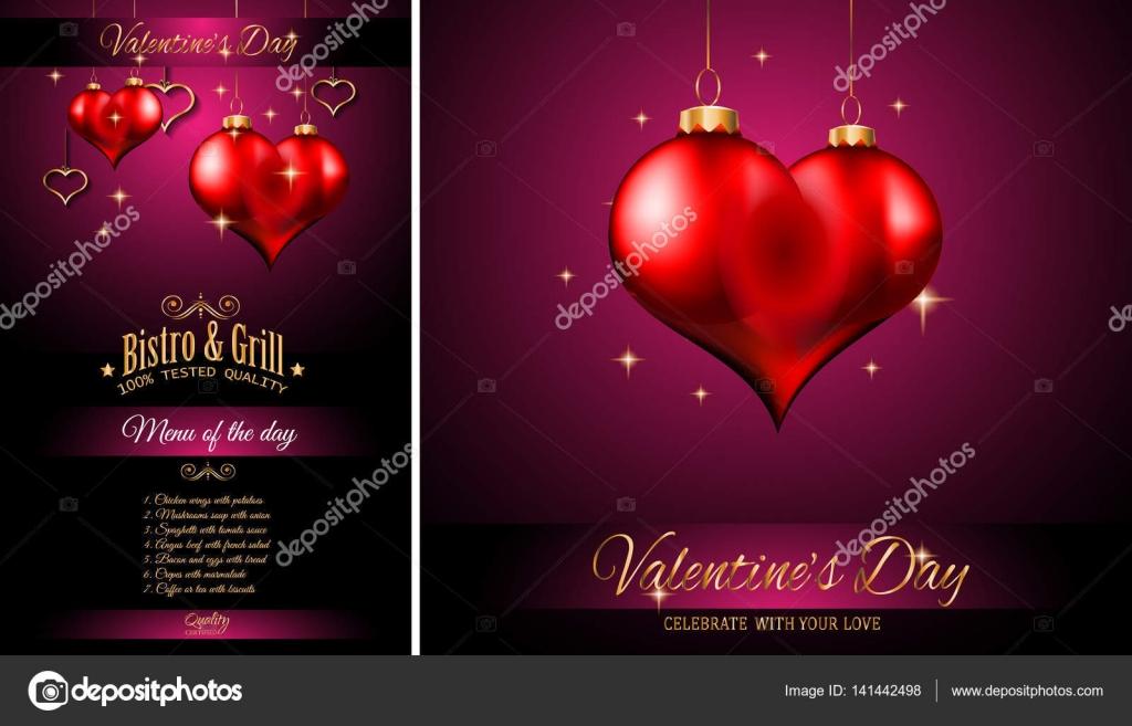 Valentinstag Restaurant Menüvorlage — Stockvektor © DavidArts #141442498