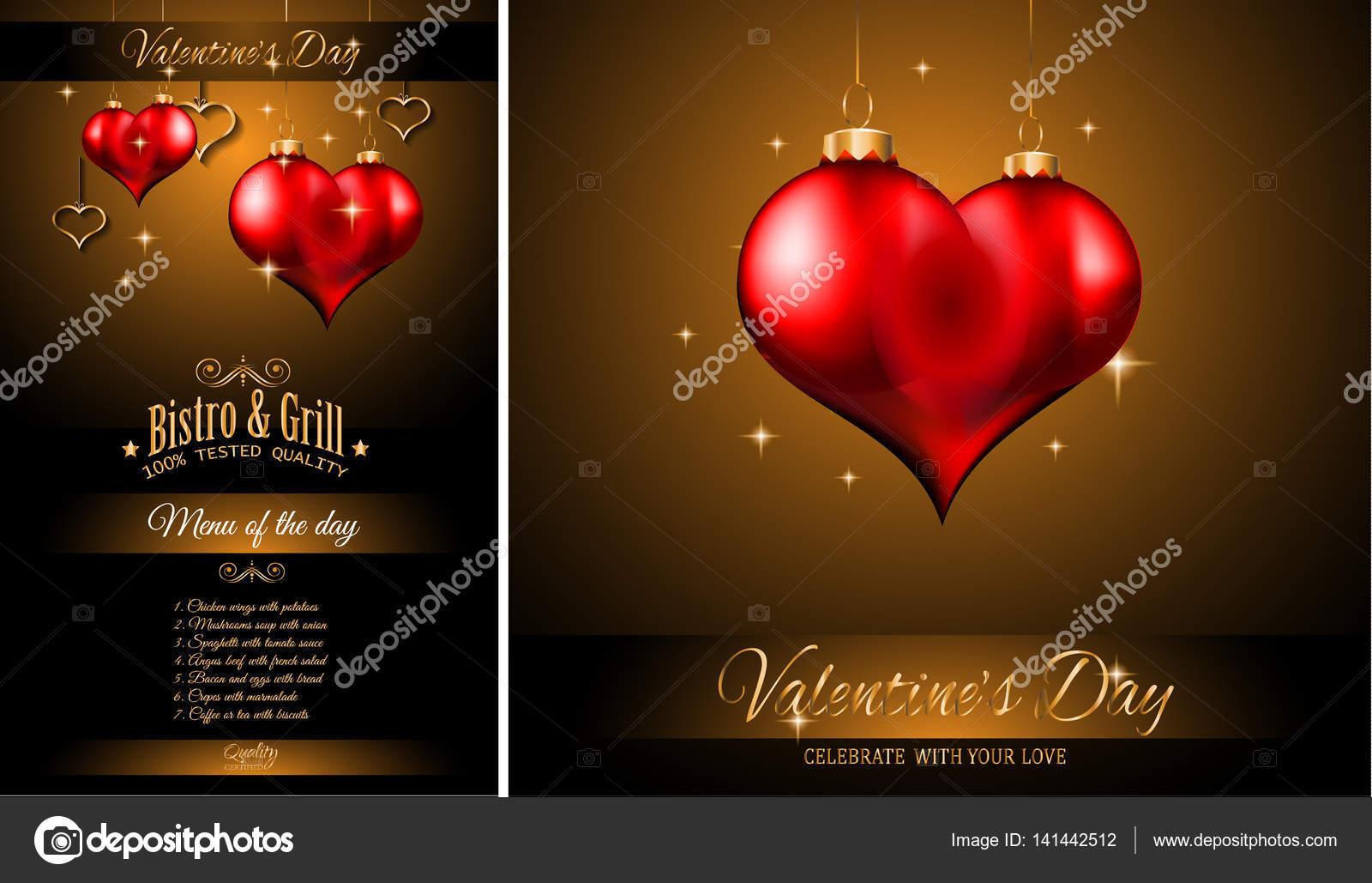 Charmant Valentinstag Menüvorlage Zeitgenössisch - Entry Level ...