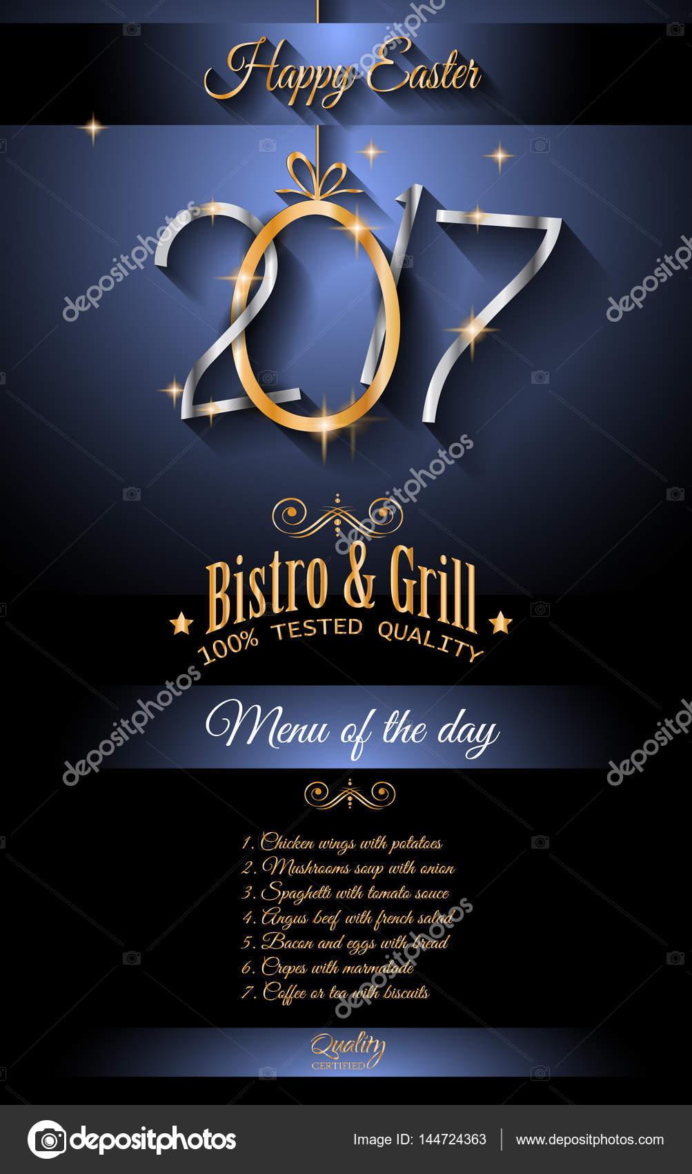 Frohe Ostern Restaurant Menüvorlage — Stockvektor © DavidArts #144724363