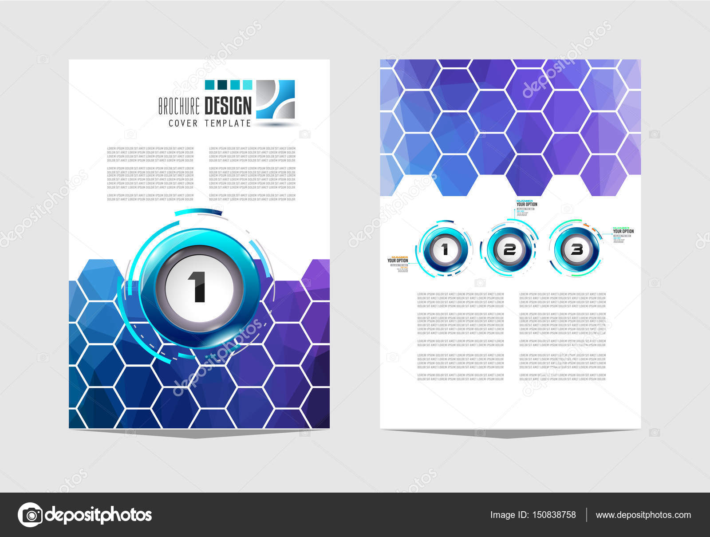 brochure template flyer design stock vector davidarts 150838758