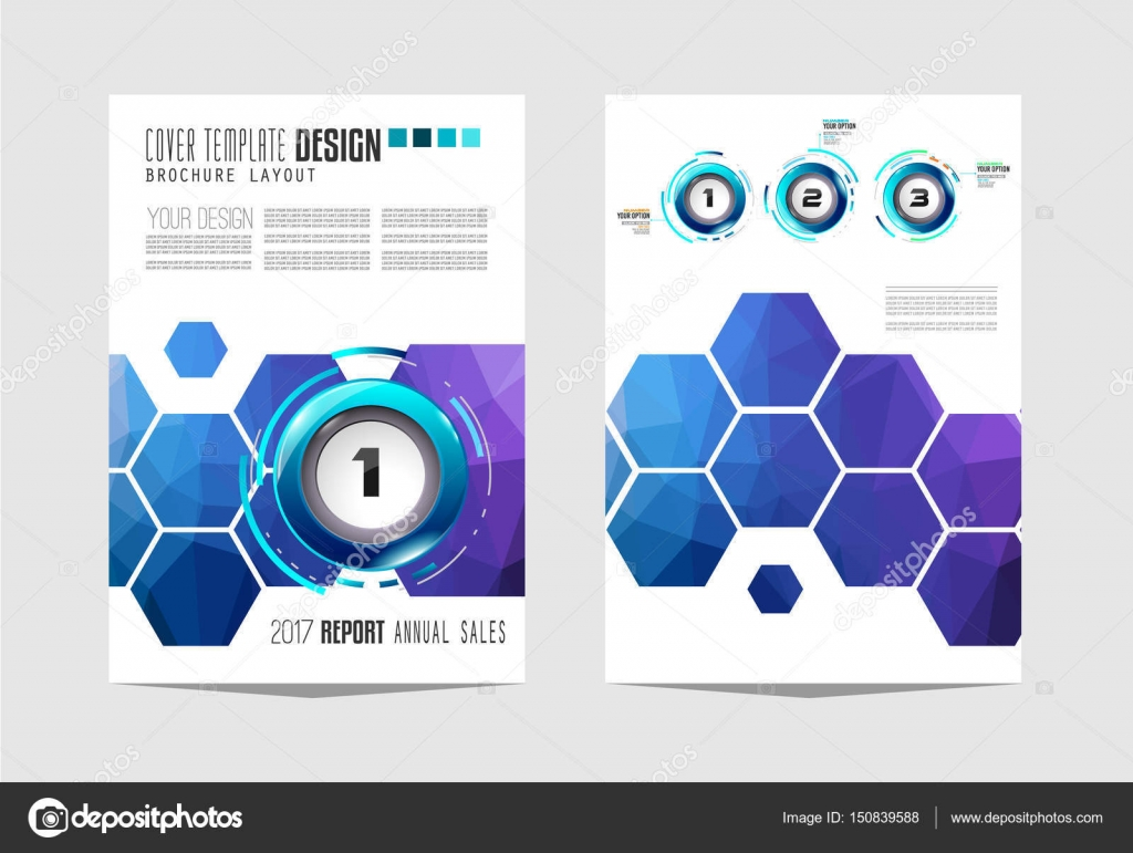 Broschüre-Vorlage, Flyer Design — Stockvektor © DavidArts #150839588