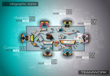 Infograph background template