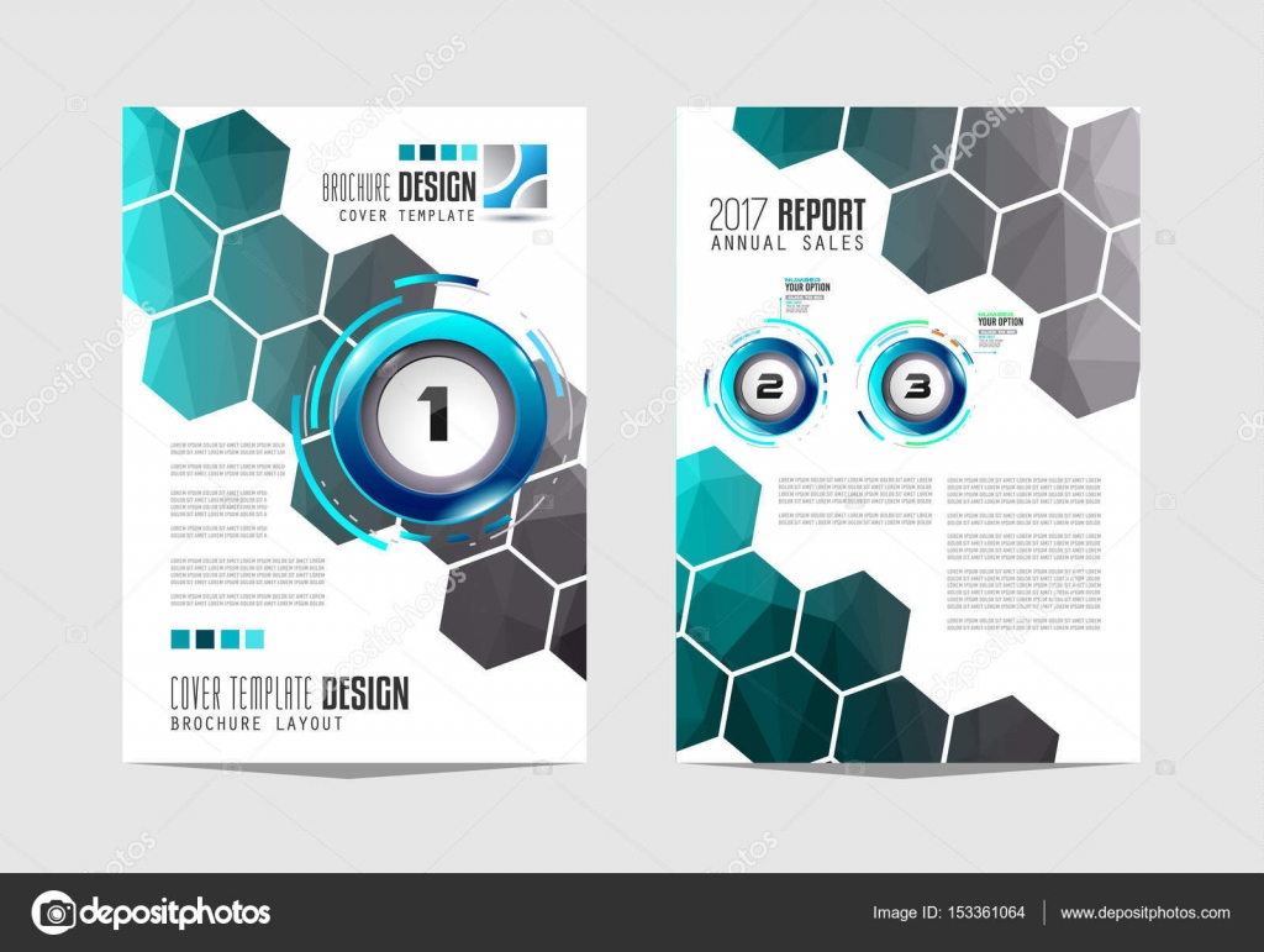 Broschüre-Vorlage, Flyer Design — Stockvektor © DavidArts #153361064